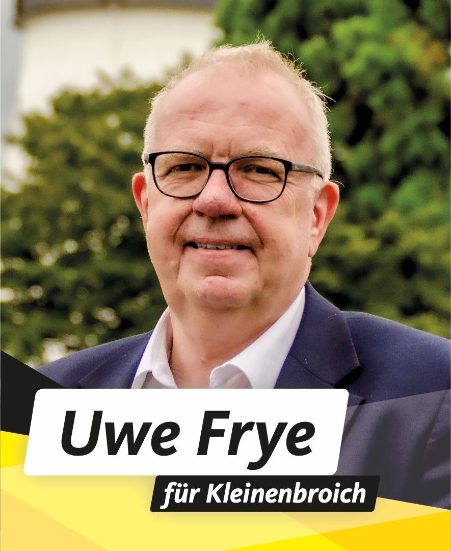 Für Sie im Stadtrat Uwe Frye